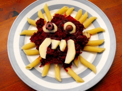 Beetroot Bolognese on Halloween