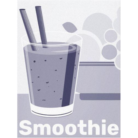 blue smoothie wall art on canvas