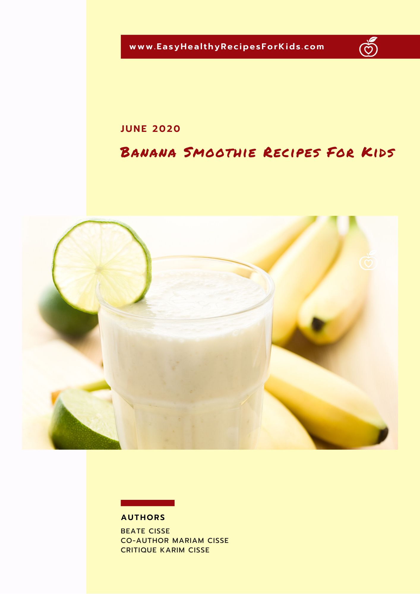 Banana Smoothies For Kids Booklet Cover