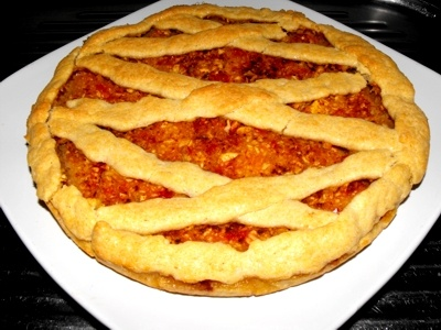 apple pie with shredded apple