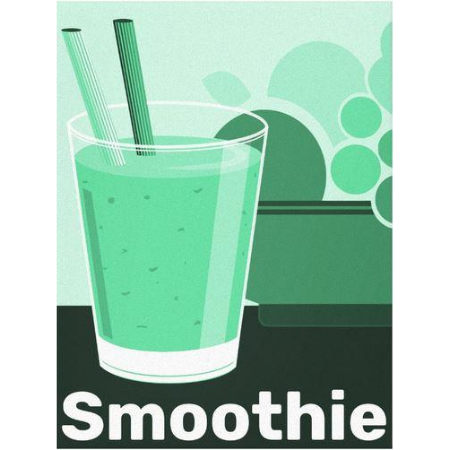 smoothie tumbler, kitchen modern wall decor