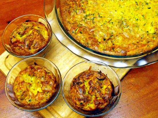 carrot zucchini crustless quiche