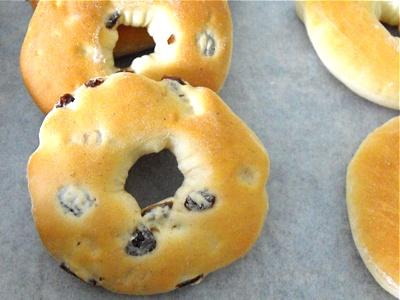 Doughnut with raisins
