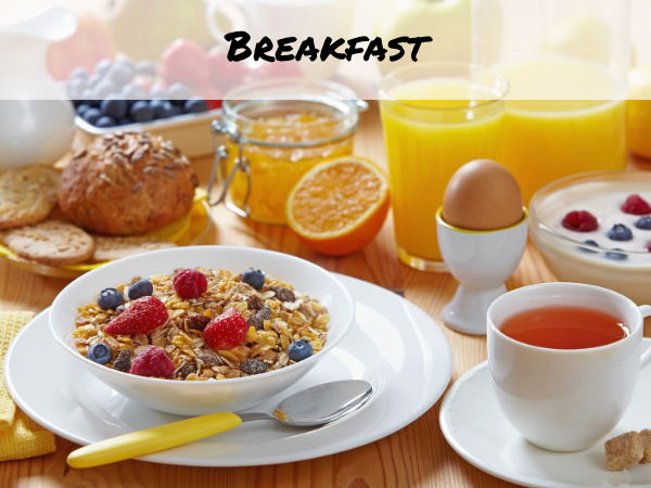 sunny breakfast table setting