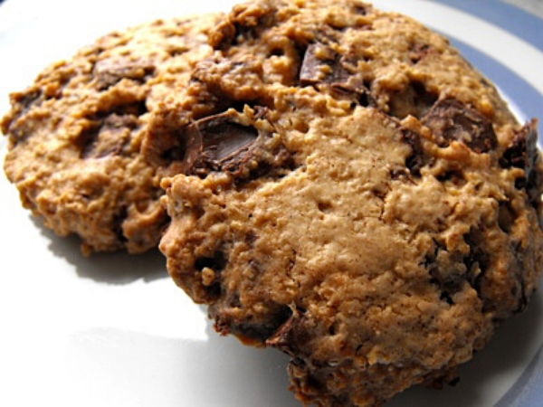 oatmeal chocolate chip cookies on a plate