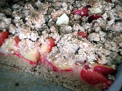 Plum cake on yeast cake base with streusel