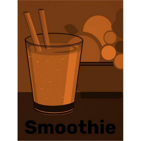 orange smoothie wall art as poster print