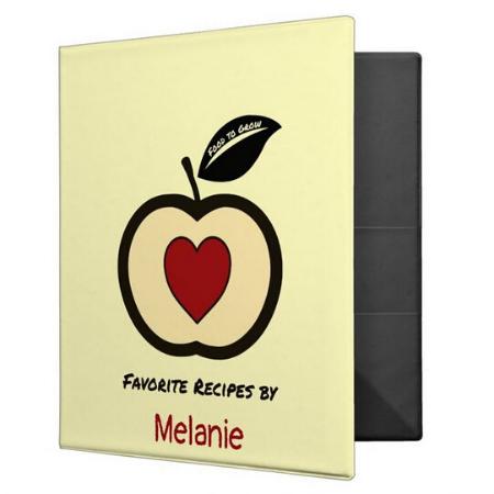 recipe binder with food to grow logo