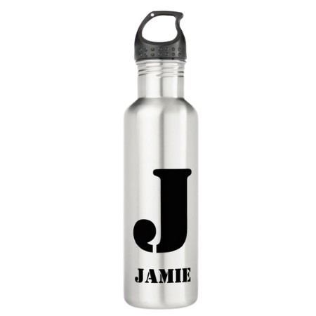 monogrammed kids water bottle