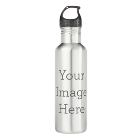 Customizable stainless steel water bottle