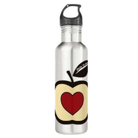 food to grow logo on water drink bottle