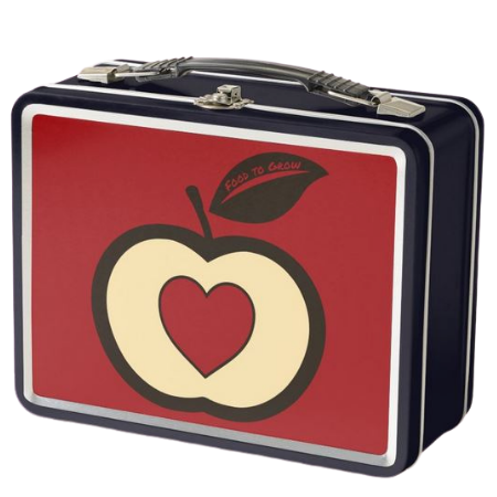 Classic metal lunch box with Food to Grow logo