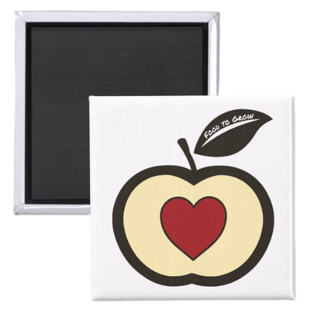 fridge magnet for kids with Food to Grow logo