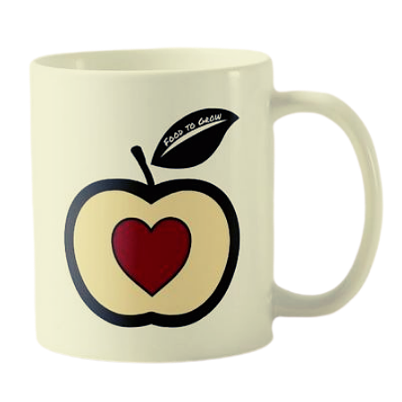 kids mug with Food to Grow logo