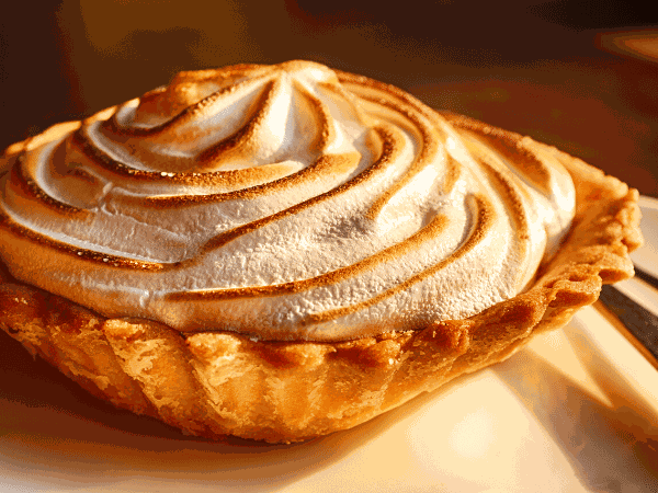 a meringue topped apple pie