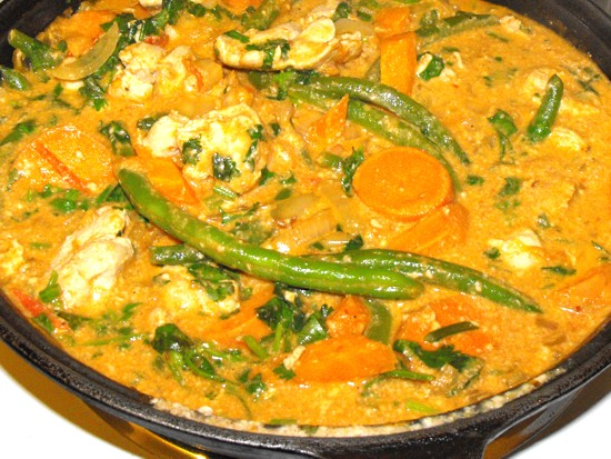 Sweet potato curry with chicken