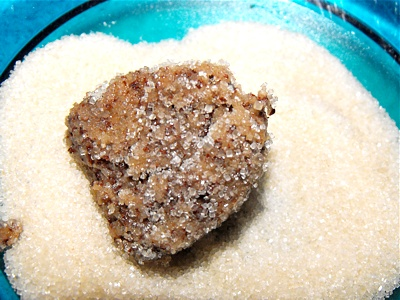 Step 4 - Roll heaps in sugar