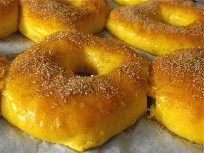 baked doughnuts with sweet potato