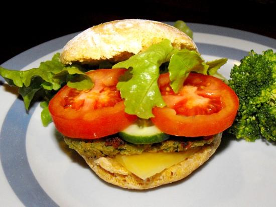 Falafel burger patty