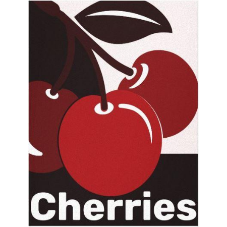 Cherry wall art print