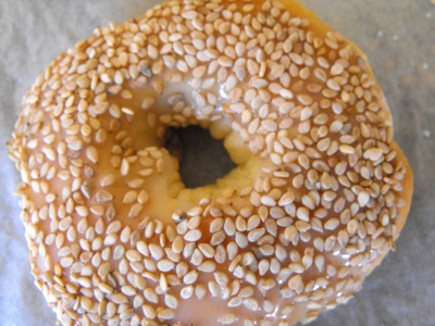 Doughnut with sesame seeds