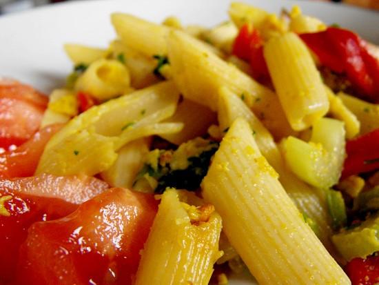 fried pasta - leftover pasta