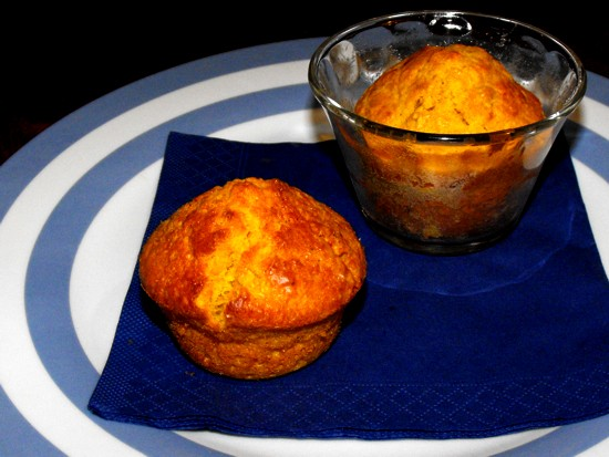pumpkin muffins with ginger and coconut
