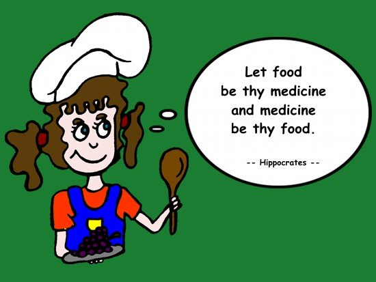 Hippocrates - Let food be thy medicine and medicine be thy food.