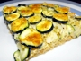 Go to zucchini quiche with rice base
